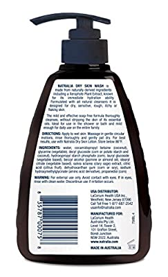 Natralia Dry Skin Wash, 8.45 oz., Gentle Fragrance-Free Body/Hand Cleanser for Dry, Sensitive, Rough, Itchy or Flaking Skin, with Coconut, Jasmine & Almond Oil, Unscented