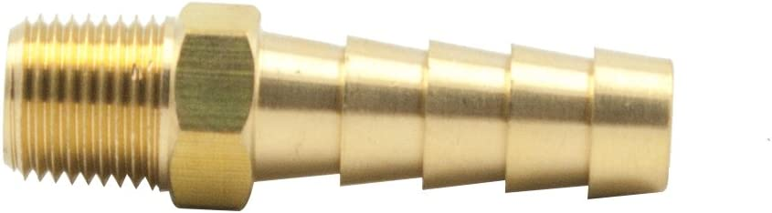 Vis Hose Barb Adapter 1//2 Barbed to 1//4 NPT Male Pipe Fitting Brass Straight Male Connector 5pcs