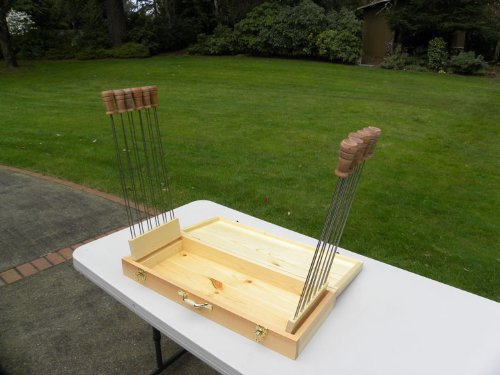 Super Skewer Hand-crafted Wooden Case with 12 Original Super Skewers - FREE STANDARD SHIPPING IN USA by Super Skewer