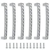 TOVOT 128 MM European Style Square Clear Glass Diamond Crystal Rhinestone Knobs Handle Pull for Cupboard Kitchen Bathroom Knobs Drawer Wardrobe Door Handle Pull(6 pack)