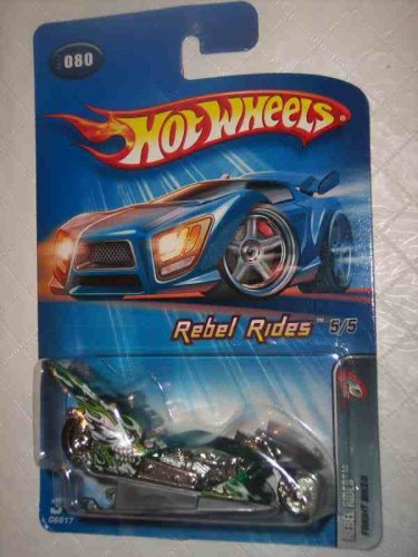 Rebel Rides Series #5 Fright Bike #2005-80 Collectible Collector Car Mattel Hot Wheels 1:64 (Bike Diecast Collectible)