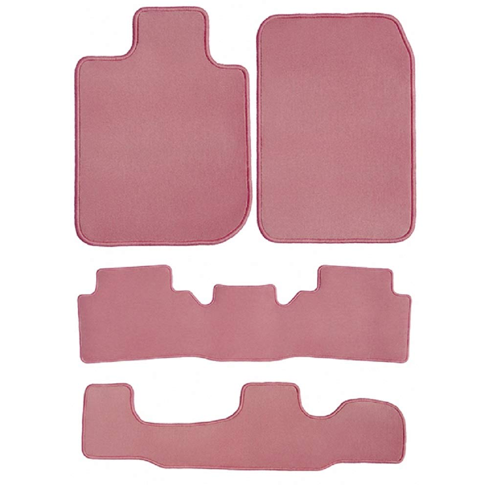 GGBAILEY D3568A-LSA-PNK Custom Fit Car Mats for 2005 Passenger 2007 Dodge Grand Caravan Pink Driver 2006 2nd /& 3rd Row 4 Piece Floor