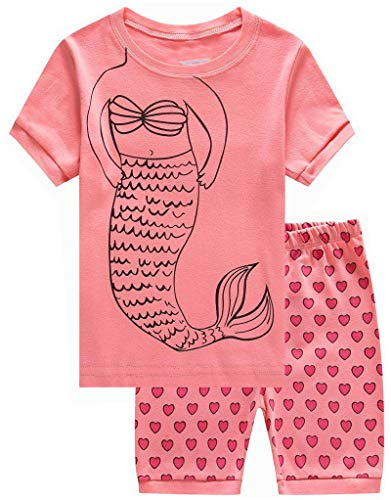 KikizYe Little Girls Pjs Sets Pajamas 100% Cotton Clothes Toddler Sleepwears Size 2T