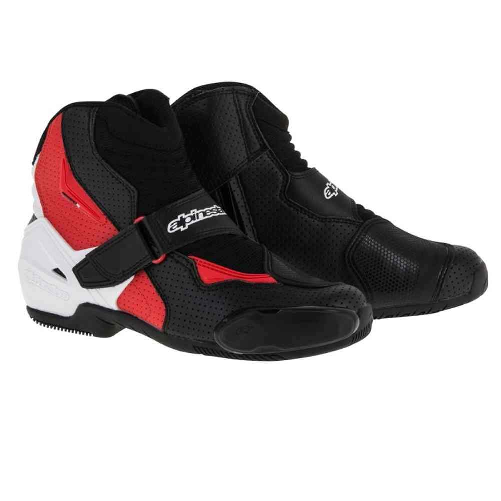 Alpinestars SMX-1 R Vented Boots (50) (BLACK/WHITE/RED)