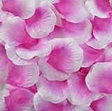 Best Quality 1000 pcs Silk Rose Petals Wedding Party Decorations Flower Favors (hot pink &white)