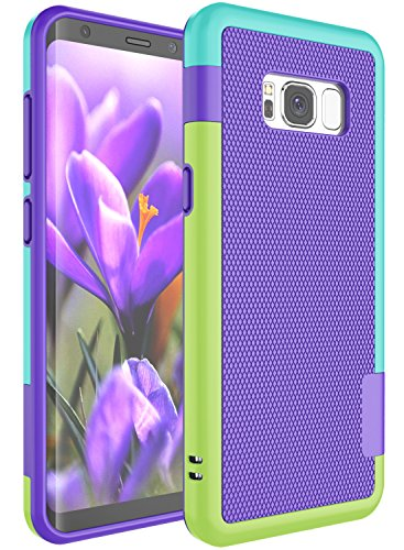 S8+ Case, Galaxy S8 Plus Cute Case, Zectoo Ultra Slim 3 Color Hybrid Impact Anti-slip Shockproof Protective Case Soft TPU Hard PC Bumper Cover Shell For Samsung Galaxy S VIII Plus (6.2 Inch) Purple