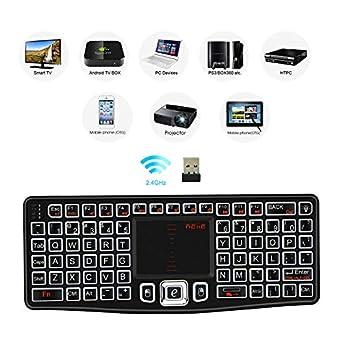 2018 Rii Rkm709 2.4Ghz Ultra-Slim Wireless Keyboard And Mouse Combo Multimedia