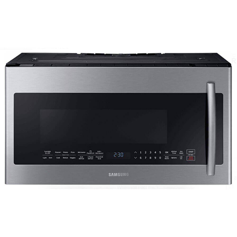 SAMSUNG ME21K7010DS 2.1 cu. ft. Over The Range Microwave with PowerGrill and Ceramic Enamel Interior