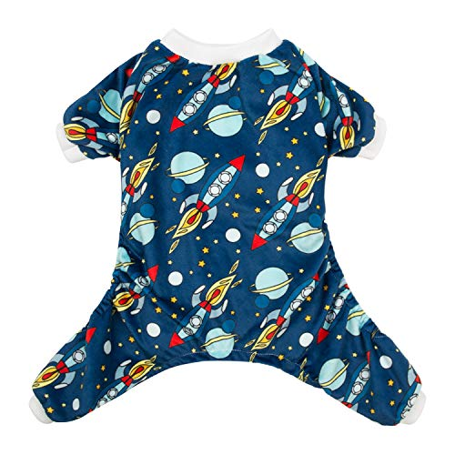 CuteBone Rocket Dog Pjs Large Onesies Pet Clothes Jumpsuit Apparel Soft Pajamas P16L