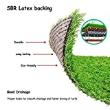 Deseados Synthetic Grass Carpet Floor Mats Artificial Grass Rug Fake Grass Mat for Entryway Patio Grass Runner Pet Turf for Dogs