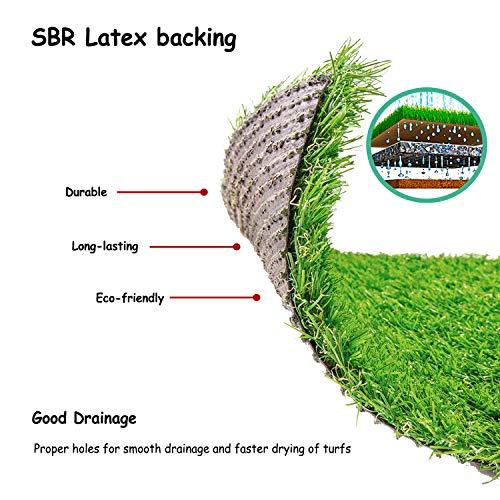 Deseados Artificial Grass Floor Mat Synthetic Grass Doormat Fake Grass Welcome Door Mat for Entryway Kitchen Mat Pet Turf for Dog, 18 X 24