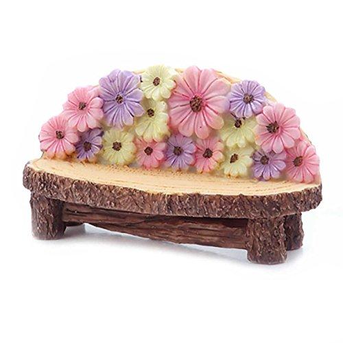 Fairy Garden Flower Resin Bench