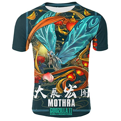 Mothra Monster Teen Boys 3D Printed Short Sleeves Tee - Joe Baseball Jersey