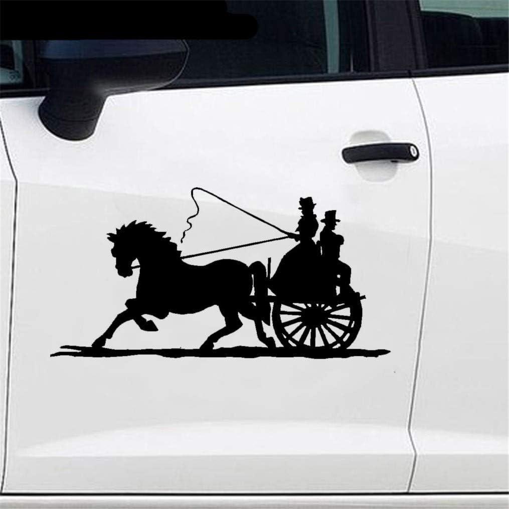 Calcomanía de carro tirado por caballos Car Styling Wagon Old Timey Fashioned Buggy Car Window Bumper Car Sticker para el coche Laptop Window Sticker