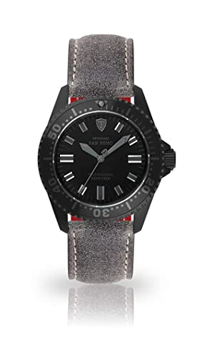 Detomaso San Remo - Reloj de Buceo automático para Hombre Analog Gamuza de Piel Pulsera Esfera Negra dt1025 de N- 804: Amazon.es: Relojes