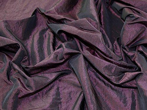 Crushed Textured Shot Taffeta Dress Fabric Wine - per metre