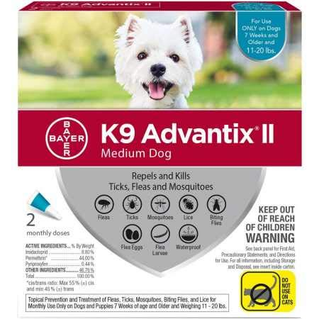 Bayer Animal Health K9 Advantix Ii Medium Dog 2-Pack (K9 Advantix Ii For Dogs 6 Month Supply)