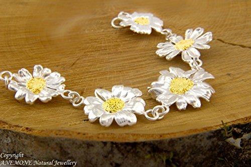 (Spring Fest, Handmade Daisy Flowers Bracelet, Greek Nature Inspired)