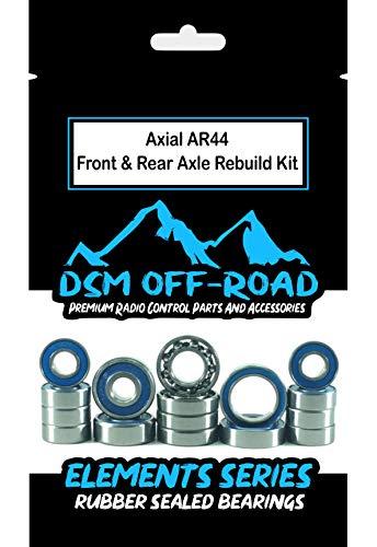 DSM Off-Road Axial AR44 (SCX10 II) Both Front & Rear Axle Bearing Kit Set (16 Bearings)