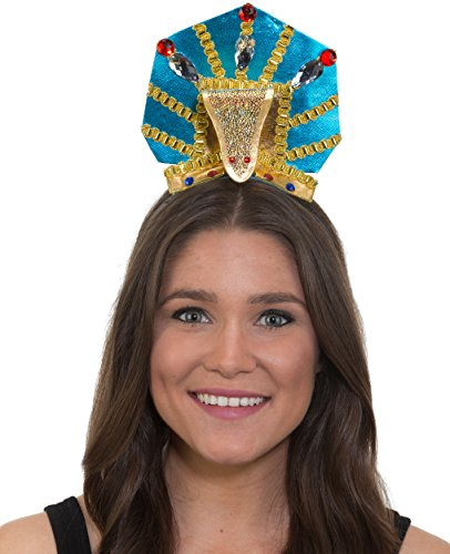 Womens Ancient Egyptian Pharoah Snake Headband Costume Accessory