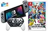 Nintendo Switch Super Smash Bros. Ultimate Limited Bundle: SSB Ultimate Game with Limited Edition Pro Controller, Nintendo Switch 32GB Gaming Console with Gray Joy-Con and Extra 128GB SD Card