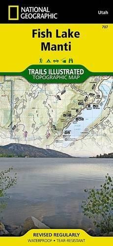 Central Capitol Reef & Fish Lake North, Utah Trail - North Map Lakes