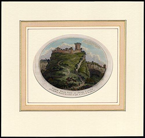 Antique Print-PEAK CASTLE-PEVERIL-CASTLETON-RUIN-Lambert of ()