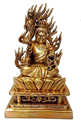 仏像 不動明王坐像 黄銅製/お不動さん◆怨敵調伏、勝負必勝、立身出世、商売繁盛 ご利益 B00V9HW6U0