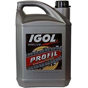 Aceite de cadena fugaz IGOL para motosierra y podadora, 5 litros