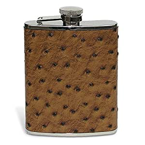 Epic Products Ostrich Leather Flask, 6-Ounce