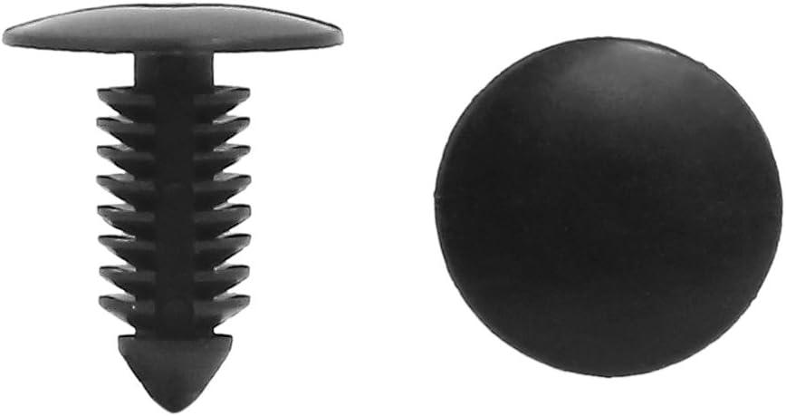 con clip di fissaggio confezione da 50 pezzi sourcingmap/®-Foro 8 mm-Bumper Fender Pin Push-in in plastica