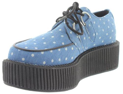 Ville Pour T De u Denim Bleu k À Femme Lacets Chaussures wppIPSq