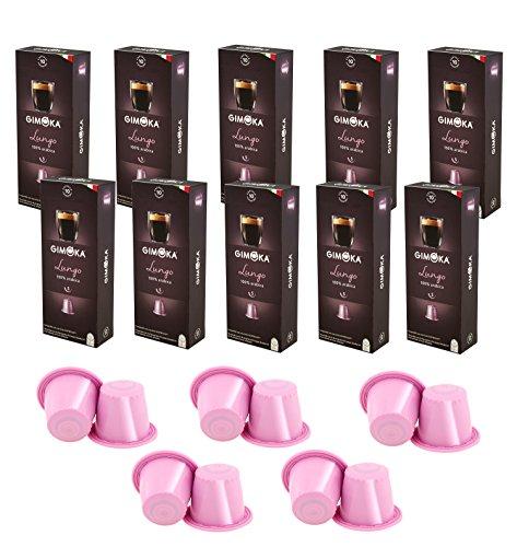 - Gimoka 100 Pack Coffee Capsule Compatible with the Nespresso OriginaLine Machine Lungo Flavor