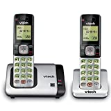 VTech CS6719-2 DECT 6.0 Phone with Caller ID/Call Waiting, Silver/Black with 2 Cordless