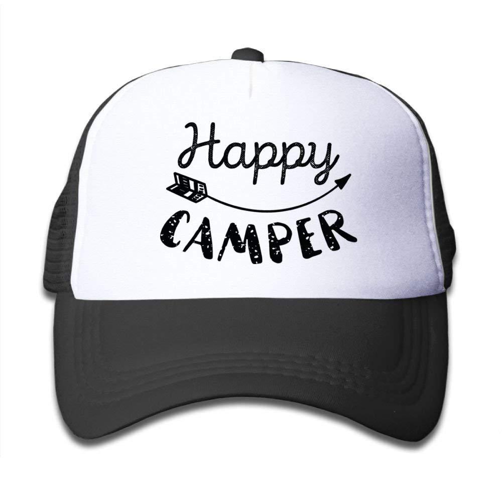Happy Camper Boy Girls Snapback Mesh Baseball Hat Youth Size Caps
