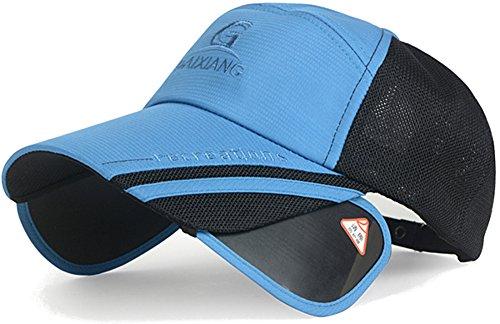 (ラクエスト) Laquest 帽子 引出 遮光 バイザー つば長 ムレ 防止 メッシュ キャップ ゴルフ アウトドア 男女