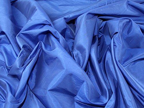 Plain Shot Taffeta Dress Fabric Light Royal Blue - per metre