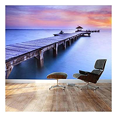 Beautiful Inspiring Calmness at Sunrise - Landscape - Wall Mural, Removable Sticker, Home Decor - 66x96 inches