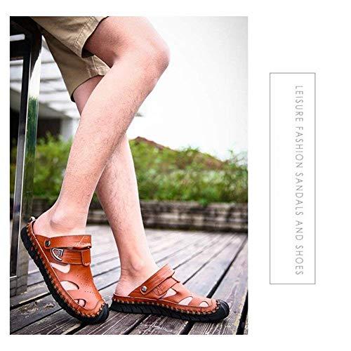 Para De Libre Cerrado Confort Absorbente Transpirable Verano Sudor Aire 3 Cuero 43 Sandalias Cool Y Casual Shoes Hombre 2 Zapatos Caminatas Beach Fuxitoggo color Tamaño Al Moda qpRn5tUxx