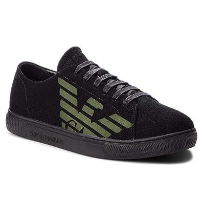 e52217369561 Emporio Armani Side Logo Homme Chaussures Noir  Amazon.fr ...