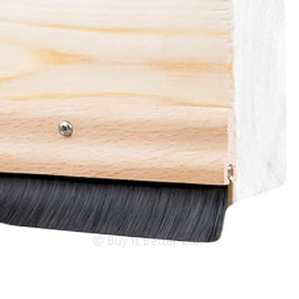 3x Door Bottom Brush Draught Excluder Wood Effect 838mm