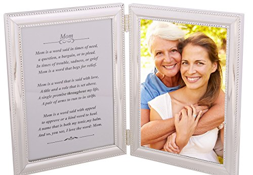 Gift for Mom - A Heartfelt poem + your personalized photo in a beautiful silver-plated double picture frame. Makes a great Mother's Day gift or Birthday present, or just to say