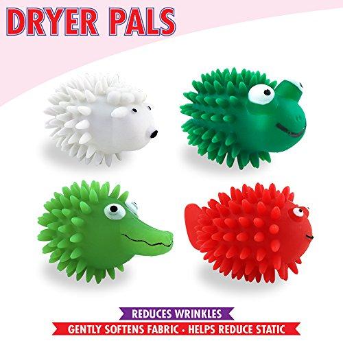 Dryer Pals Assortment, 4: Reusable Fabric Softener Dryer Balls - Reduce Static