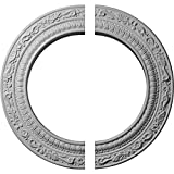 Ekena Millwork CM12AD2 12''OD x 8''ID x 1/2''P Andrea Ceiling Medallion, Fits Canopies up to 8'', 2 Piece