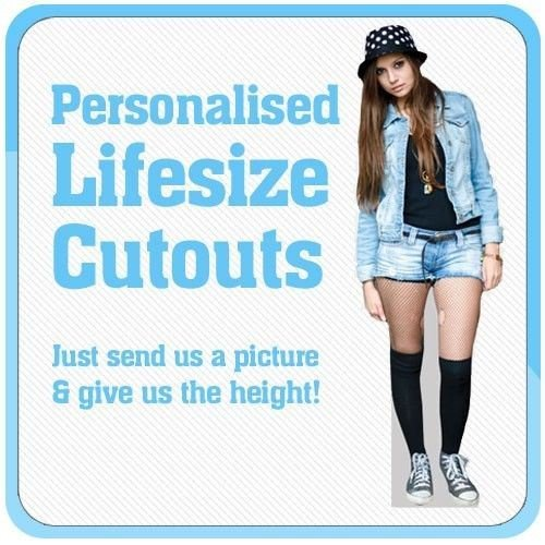 Personalised Cardboard Cutout - Your Photo Made into a Lifesize Cutout ()
