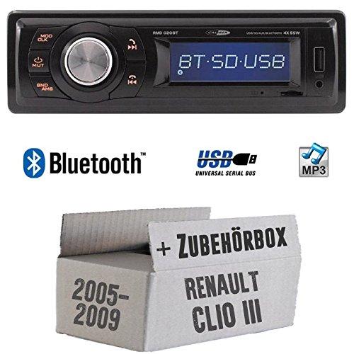 Renault Clio 3 - Autoradio Radio Caliber RMD020BT - Bluetooth | MP3 | USB | Einbauzubehö r - Einbauset JUST SOUND best choice for caraudio ReCl3_RMD020BT