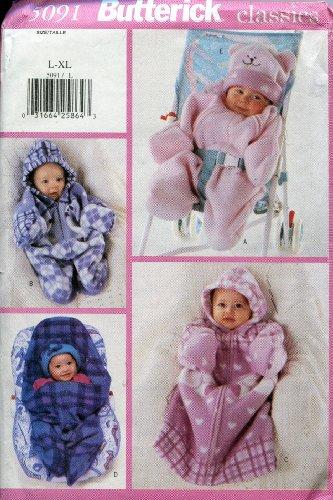 Butterick Classics Pattern 5091 ~ Infant Bunting & Hat ~ Sizes L-XL