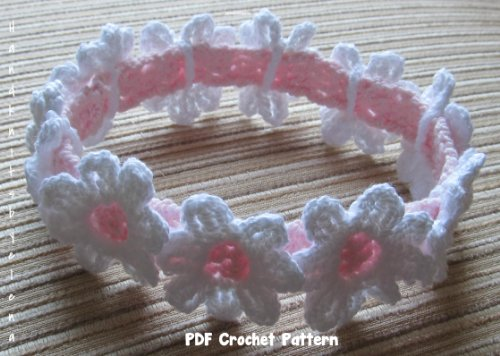 Crochet Pattern For A Baby Girl Headband With White Daisies Kindle