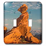3dRose Danita Delimont - Rock Formations - USA, Nevada, Valley of Fire State Park. Sunset on Balancing Rock. - Light Switch Covers - double toggle switch (lsp_259694_2)