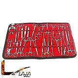 LAJA Imports 36 Pcs Professional Plastic Surgi Kit Surgi Instruments